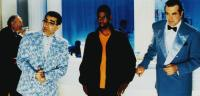 DOWN TO EARTH, from left: Eugene Levy, Chris Rock, Chazz Palminteri, 2001, © Paramount