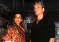 CITY OF JOY, from left: Shabana Azmi, Patrick Swayze, 1992. ©Tri-Star Pictures