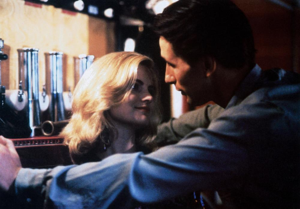 BACKDRAFT  from left  Jennifer Jason Leigh  William Baldwin  1991